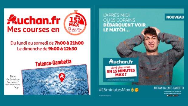 Quick commerce : Auchan teste la livraison en 15 minutes [Exclu]