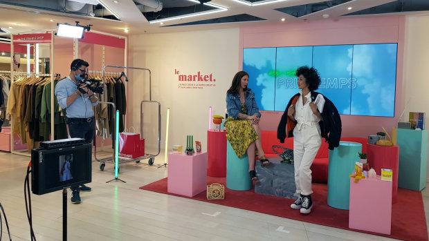 Reportage : Le Printemps en mode live shopping