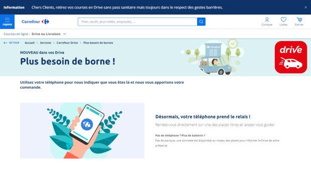 E-commerce : Carrefour teste le drive sans borne