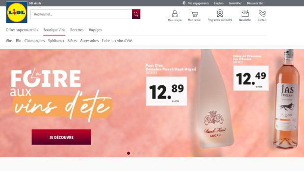 E-commerce : Lidl compte accentuer les services autour de son site Lidl Vins