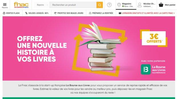 Seconde main : Fnac noue un partenariat avec Bourse aux livres