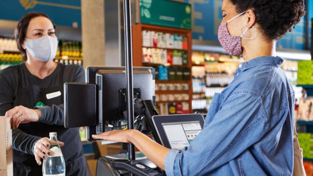 Amazon indique le paiement par la paume de la main prend moins d'une seconde. - © Amazon