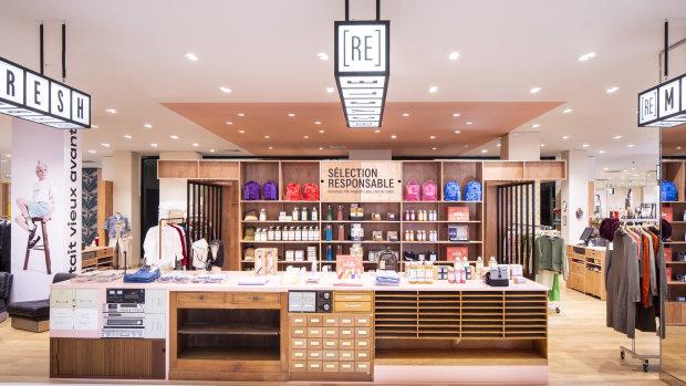 Au troisième étage du magasin Haussmann, les clients peuvent découvrir l'espace (re)store. - © Galeries Lafayette