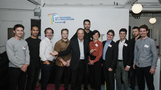 Les gagnants et lauréats des trophées de l'innovation E.Leclerc 2021. - © CHRISTOPHE MEIREIS