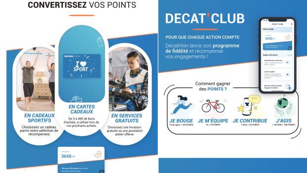 Le nouveau programme de fidélité de Decathlon a été mis en place au printemps dernier. - © D.R.