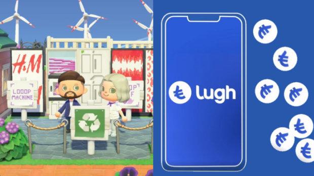A gauche, H&M mise sur Animal Crossing, à droite, Lugh est la crypto du groupe Casino. - © D.R.