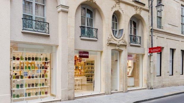 La nouvelle boutique Clarins écoresponsables est située 45 Rue Vieille du Temple à Paris. - © Clarins / Olivier Loser