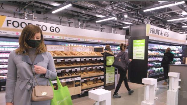 Le magasin Amazon Fresh UK suit le même fonctionnement que les Amazon Go américains. - © Amazon