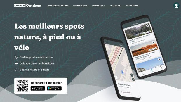 L'application Outdoor permet aux utilisateurs de trouver des spots pour se promener près de chez eux - © D.R.