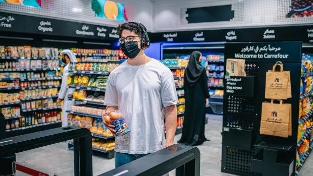Carrefour City+ à Dubaï est le premier magasin sans caisse 100% automatisé des Emirats arabe unis. - © AiFi