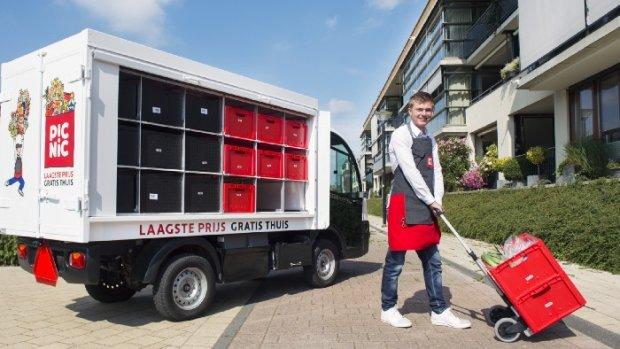 Picnic a conçu un camion de livraison sur-mesure électrique. - © Picnic