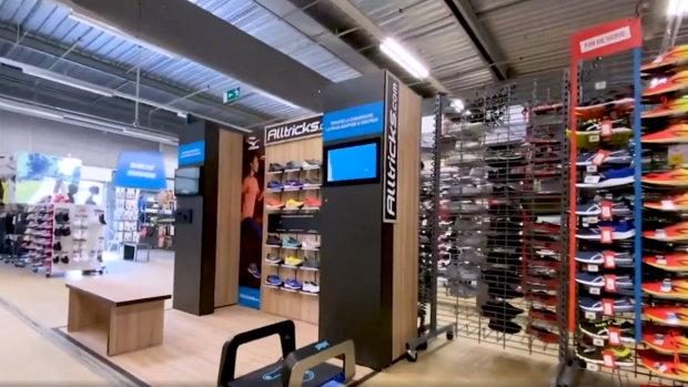 Alltricks a implanté un corner dans trois magasins Decathlon pour promouvoir son offre running. - © D.R.