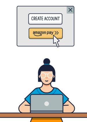 Tous les clients Amazon disposent d'un compte Amazon Pay. - © Amazon