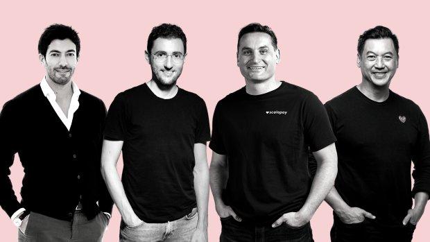 (De gauche à droite) Raffaele Terrone, Simone Mancini, Johnny Mitresvki, Pingki Houang. - © Scalapay