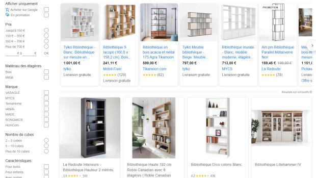 Google Shopping permet d'obtenir depuis le moteur de recherche les informations produits. - © D.R.