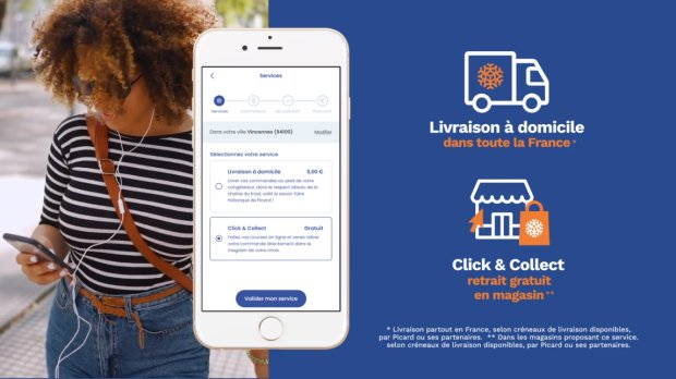 Picard Surgelés mise sur son app mobile pour travailler sa relation client et développer le CA web. - © D.R.