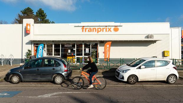 Franprix Andrésy est l'exemple type du magasin que l'enseigne veut multiplier en grande banlieue. - © Franprix