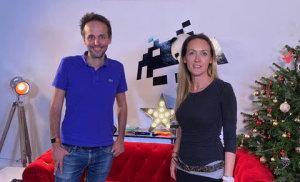 Thomas Rudelle, directeur marketing digital du groupe Carrefour, et Sergine Dupuy, directrice général de Quidol.
