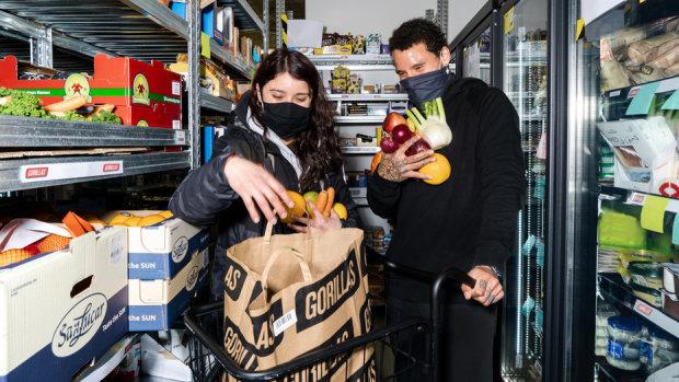 Gorillas fait partie des nouveaux acteurs en France sur la livraison express alimentaire. - © Gorillas