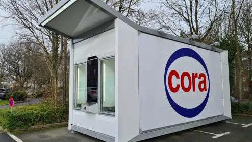 Easybox est un conteneur robotisé dédié au retrait de commandes e-commerce. - © Cora