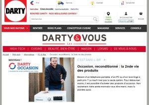 L'offre occasion sur les produits blanc a fun franc succès au sein de Darty. - © Darty
