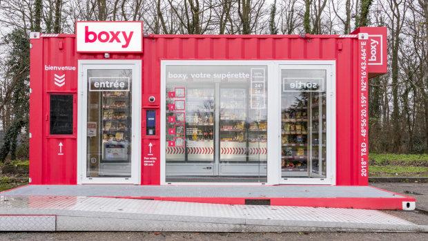 Storelift a déployé 10 Boxy, sa supérette automatisée, approvisionnées depuis l'entrepôt d'Ivry. - © Storelift