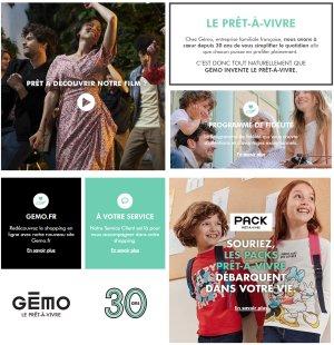 Prêt-à-vivre est la nouvelle identité de marque Gémo. - © D.R.