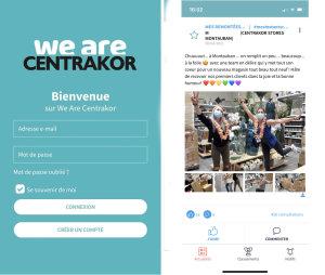 L'application WeAreCentrakor a des fonctions pour les salariés, les adhérents et prochainement les clients. - © Centrakor