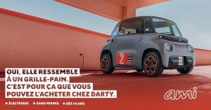 La vente des Citroën Ami chez Fnac Darty est un vrai succès commercial selon Benoït Jaubert et l'offre va prochainement s'élargir. - © D.R.