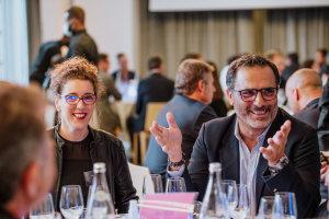 Stéphanie Payet (Altavia) et Axel Cano (Saint-Maclou) © Républik Retail / Manuel Abella