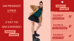 La campagne #Choisistonprix se déroule du 17 au 25 août, en ligne et en magasin. - © DCM Jennyfer