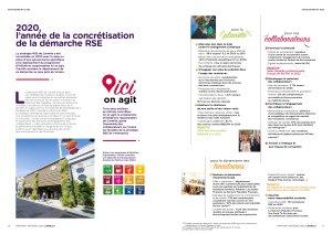 Extrait du rapport 2020 de Carmila mentionnant les objectifs RSE. - © Carmila