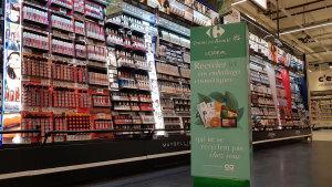 La borne sert pour les produits ne pouvant être recyclés au domicile des consommateurs.