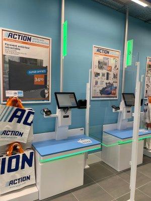Les clients auront accès à huit bornes de paiement automatiques et deux caisses traditionnelles. - © Action