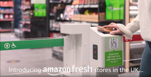 Le mobile sert de sésame pour entrer dans Amazon Fresh - © Amazon